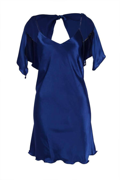 Mini Cape Slip Dress in Royal Dresses Lucy Laurita - Leiela