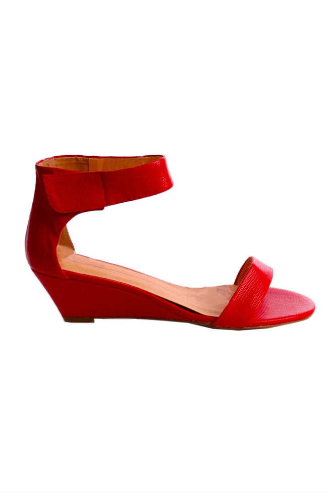 Shop Online Marsy in Red Lizard Leather by Mollini  Frockaholics Shoes