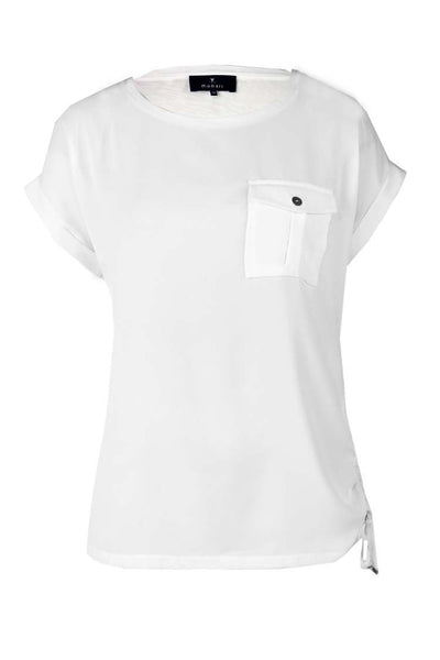 Monari Shirt w Pocket in White Tops Monari