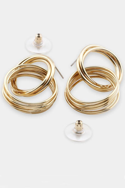 Moree Drop Hoop Earrings in Gold Accessories Peter Lang