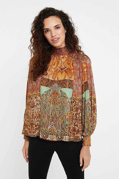 Moroccan Print Blouse Tops Desigual