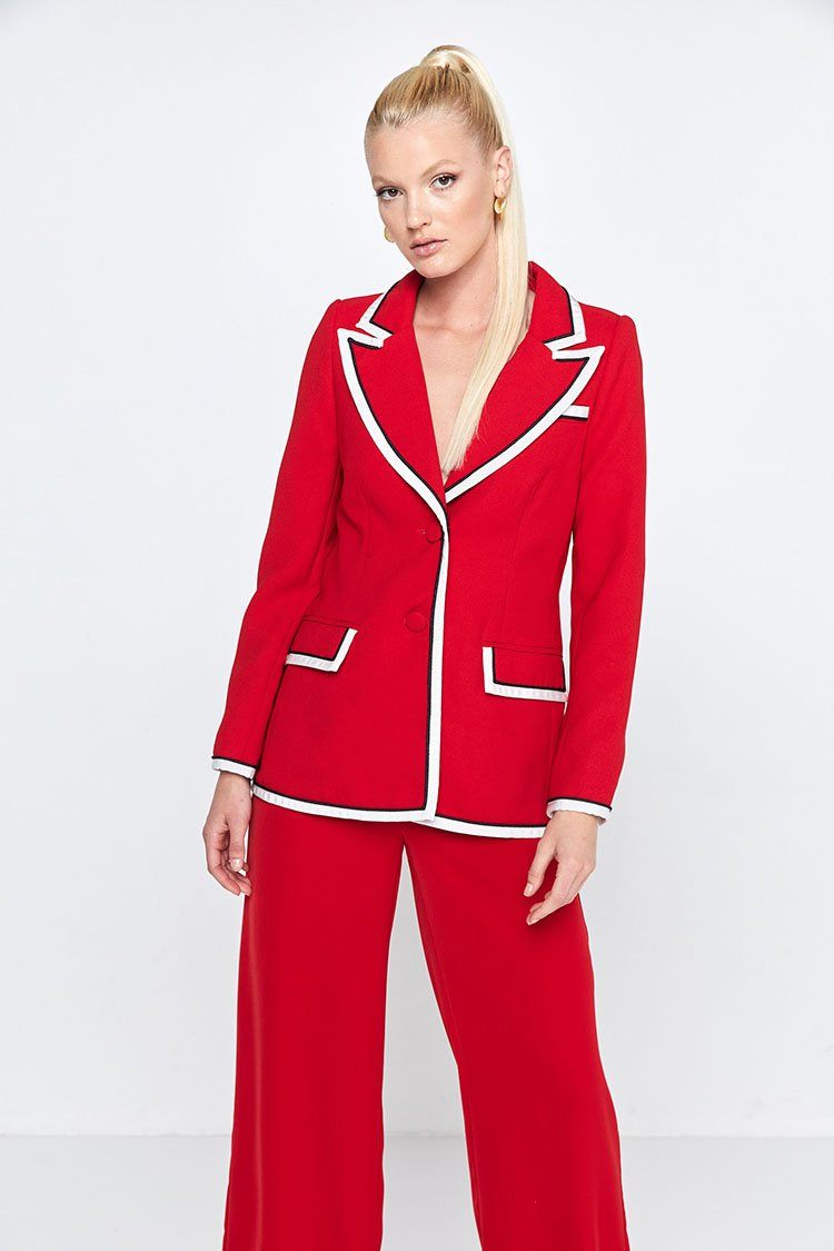 High Roller Blazer in Crimson