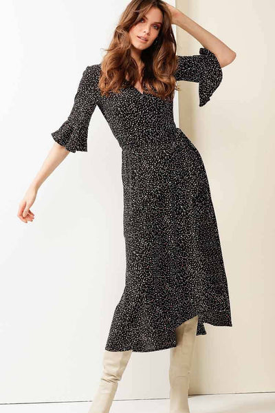 Musk Stick Wrap Dress in Spot Dresses Sacha Drake