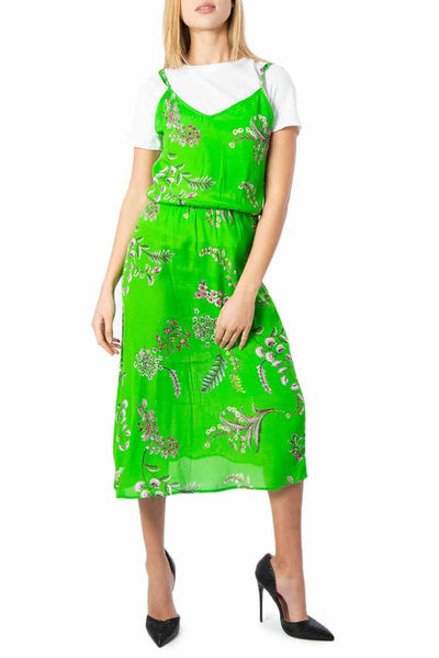 Neida Vest Long Dress Dresses Desigual