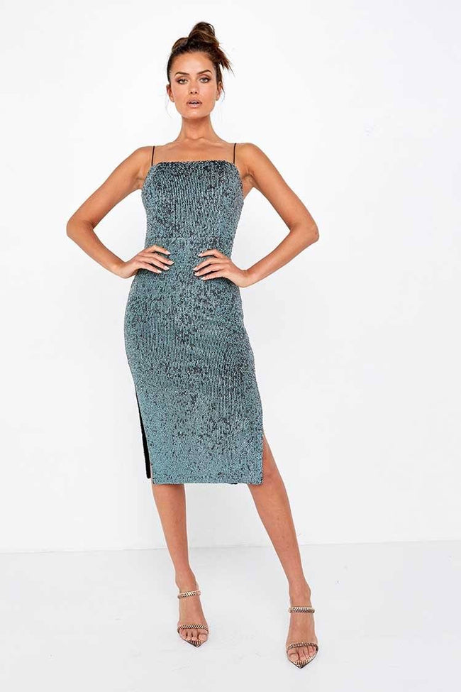 Night Fever Dress in Sequin
