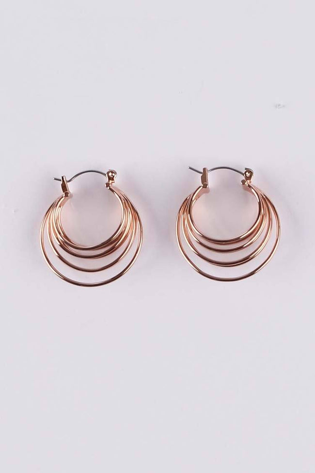 Nina Hoop Earring in Rose Gold