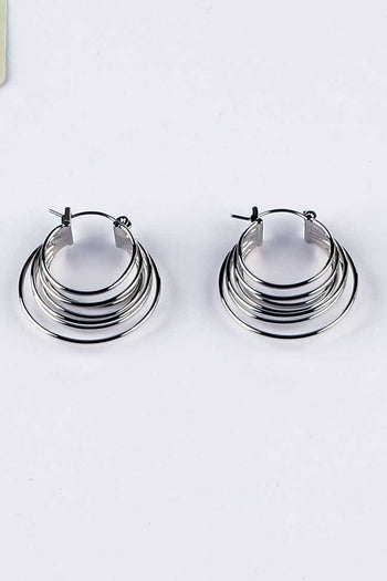 Nina Hoop Earring in Silver