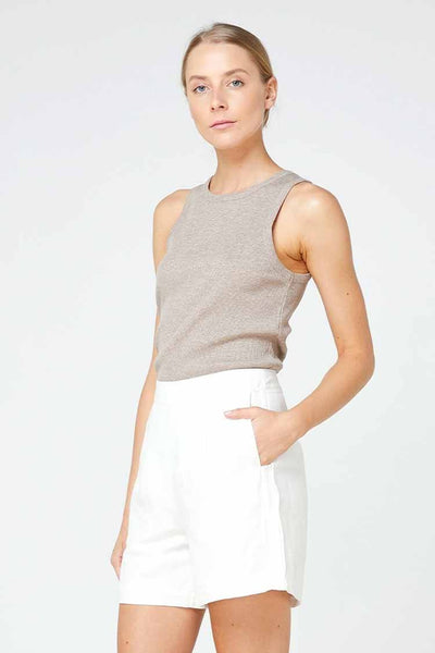 Nola Tank in Walnut Tops Elka Collective
