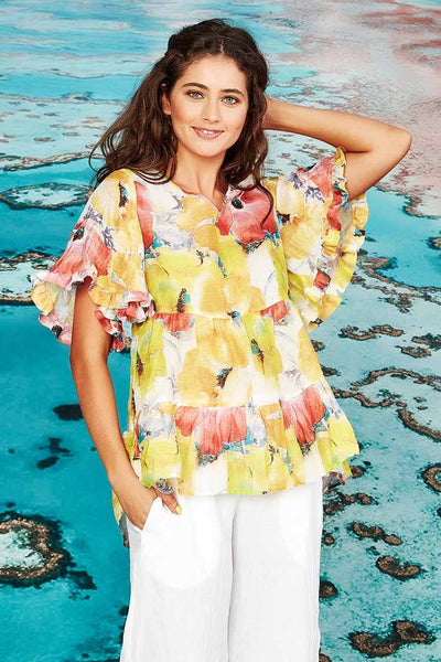 Not For Long Top in Floral Tops Curate