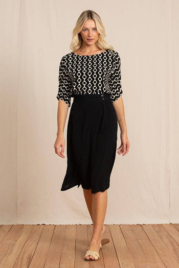 Carter Blouse in Junip Black
