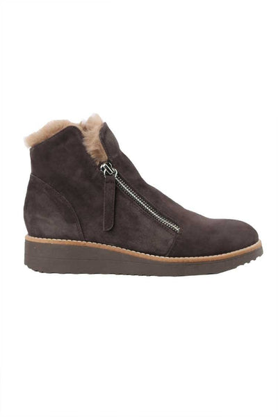 Opal Suede Fur Boot in Cocoa Shoes Top End