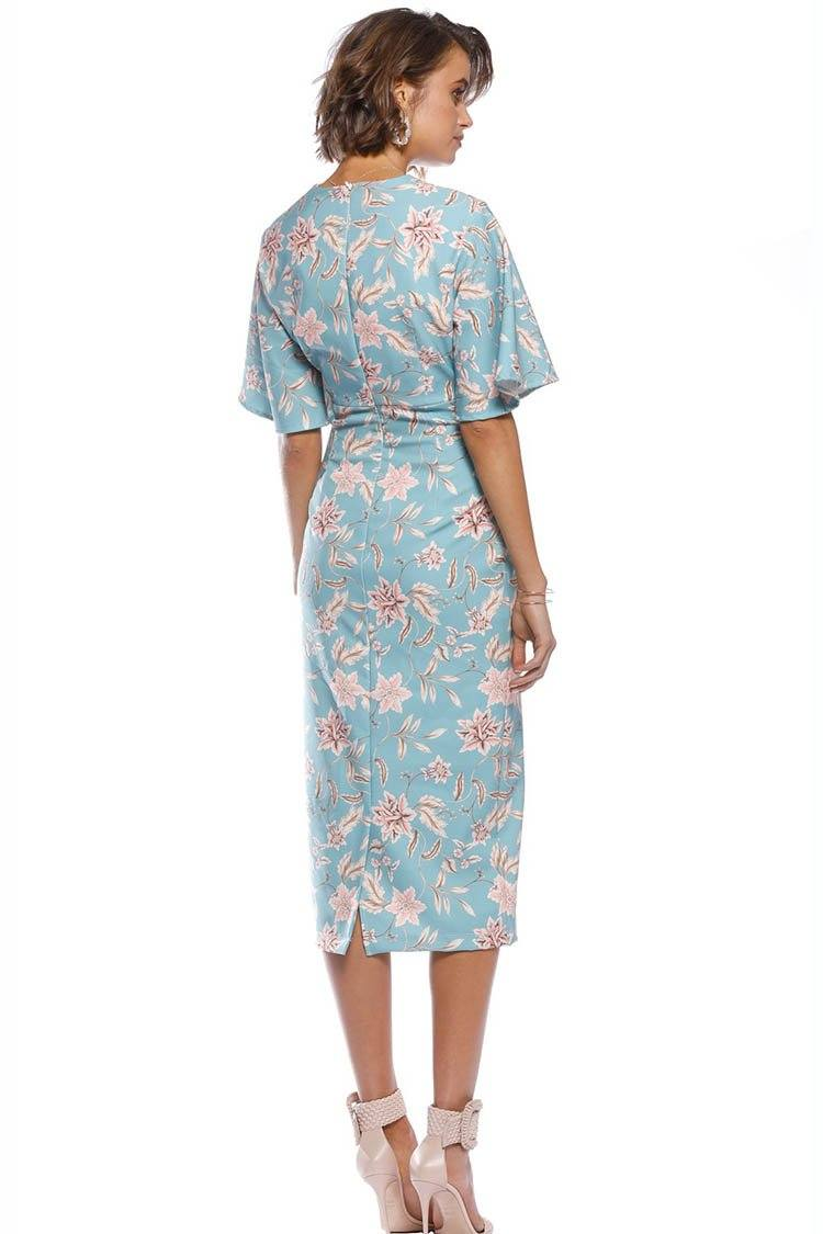 Woodley Sleeve Midi