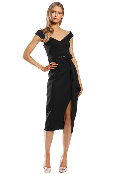 Dynasty Waterfall Midi in Black Dresses Pasduchas