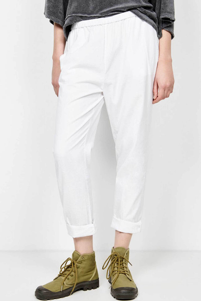 Shop Online Pizabay Trousers in White by American Vintage  Frockaholics Bottoms