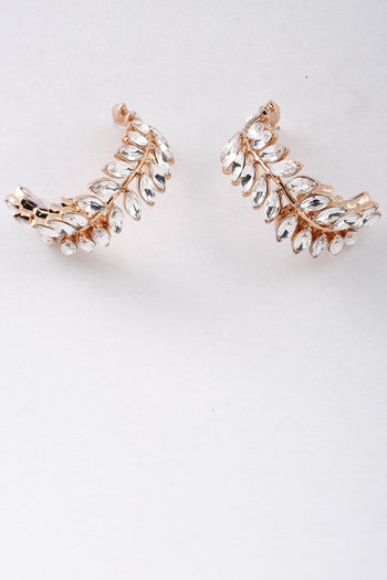 Fern Crystal Earrings