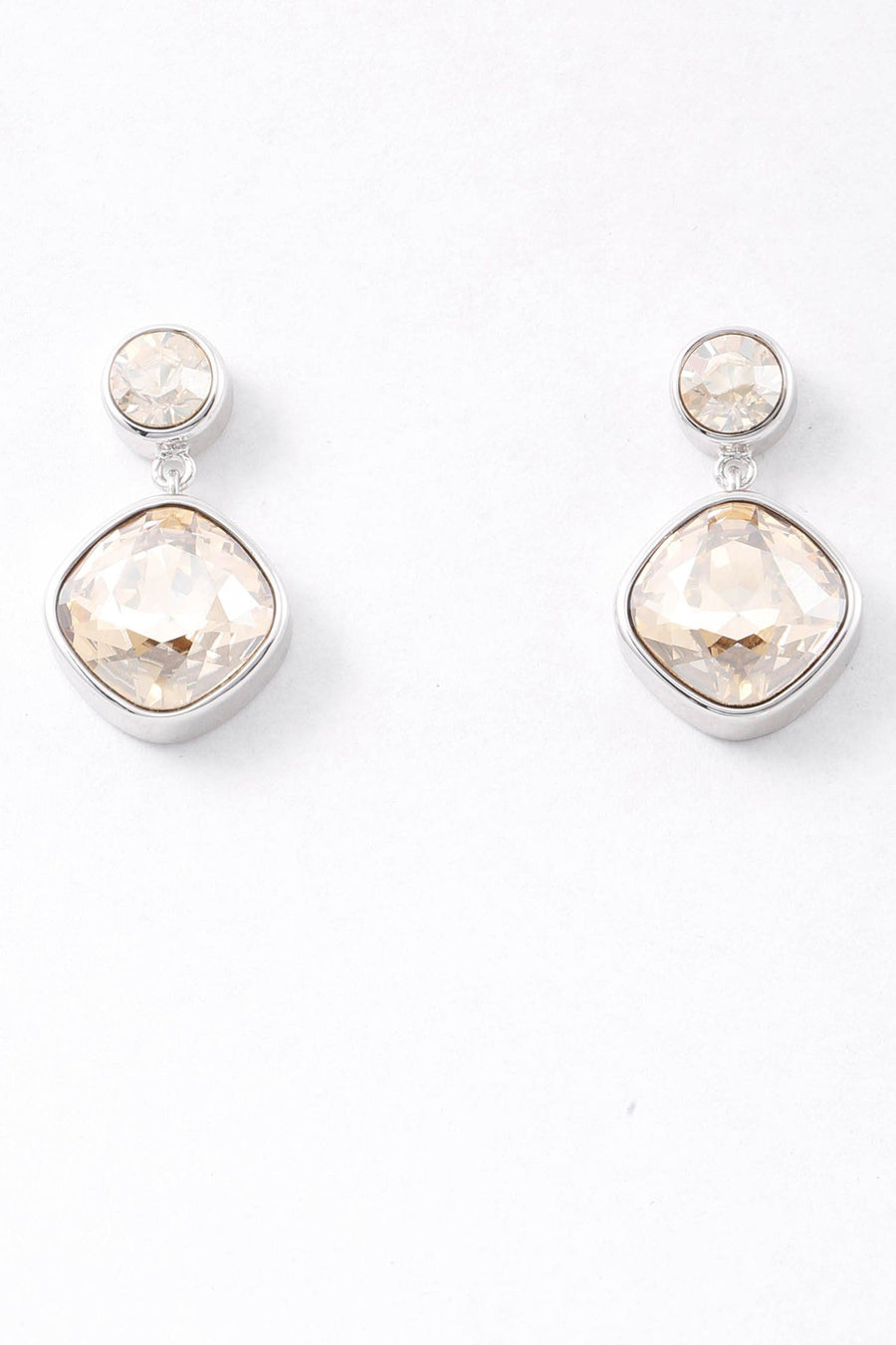 Tulip Crystal Earring in Golden Shadow/Silver