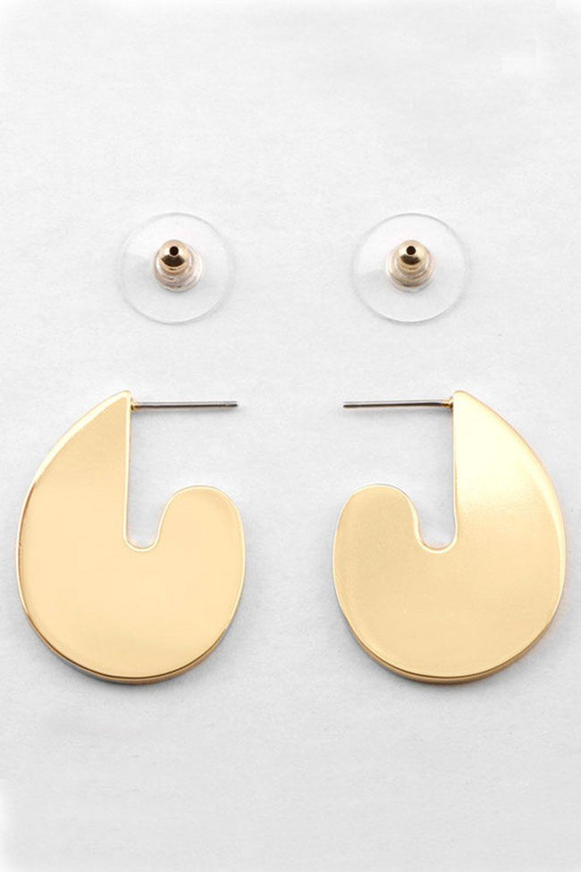 RA Earring in Champage Gold