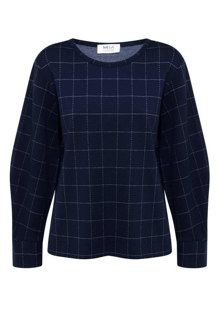 Palais Sweater in Navy/Fog