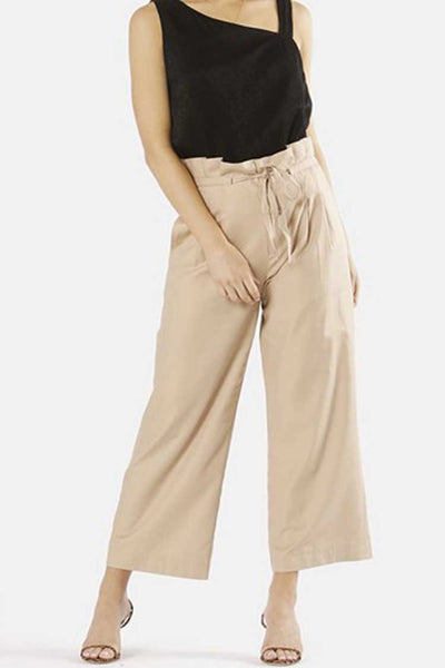 Paloma High Waisted Pant in Biscotti Bottoms Fate + Becker