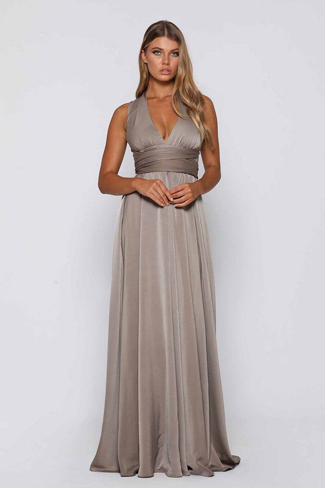 Parker Gown in Mocha | FINAL SALE