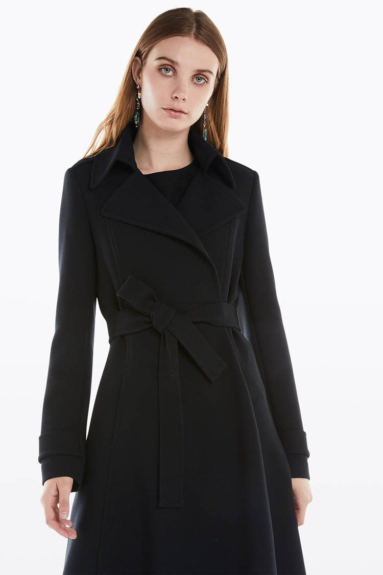 Textured Broadcloth Coat