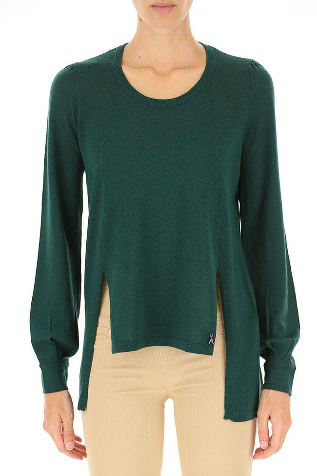 Asymmetric Sweater in Green