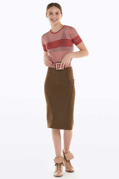 Pencil Skirt in Brown Bottoms Patrizia Pepe