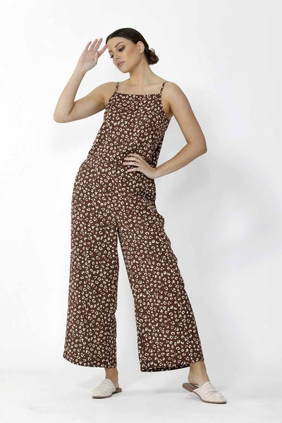 Pilar Pant in Animal Print Bottoms SASS