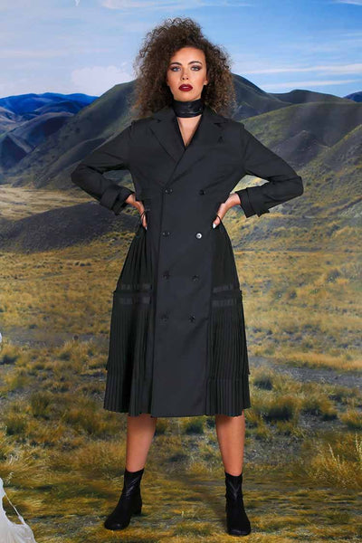Pleat Me Half Way Coat Jackets & Outerwear Trelise Cooper