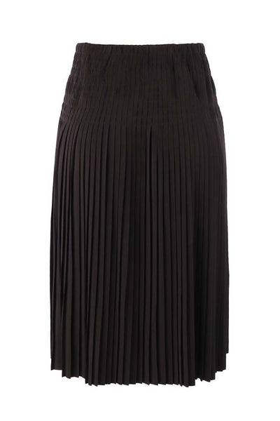 Pleated Pullup Skirt in Black Bottoms Monari