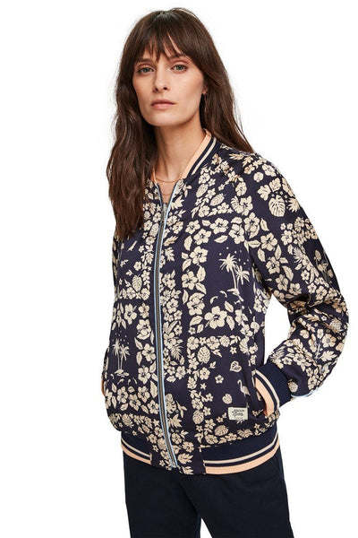 Printed Reversible Bomber Jacket Jackets & Outerwear Maison Scotch