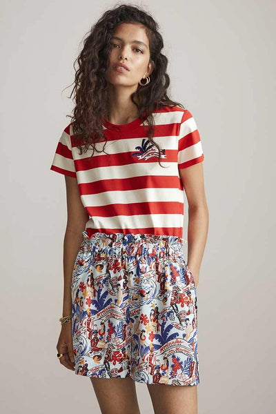 Printed T-shirt - Keoni Tops Maison Scotch
