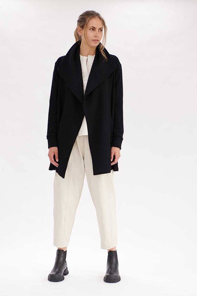 Pull On Trench in Black Jackets & Outerwear Mela Purdie