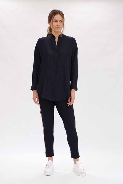 Quarter Panel Shirt in Navy Tops Mela Purdie