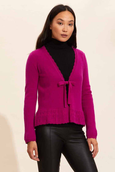 Quinn Cardigan in Cerise Jackets & Outerwear Odd Molly