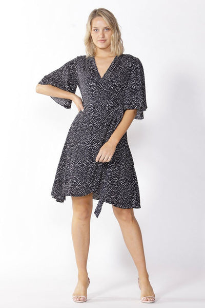 Roula Wrap Dress Dresses Fate + Becker