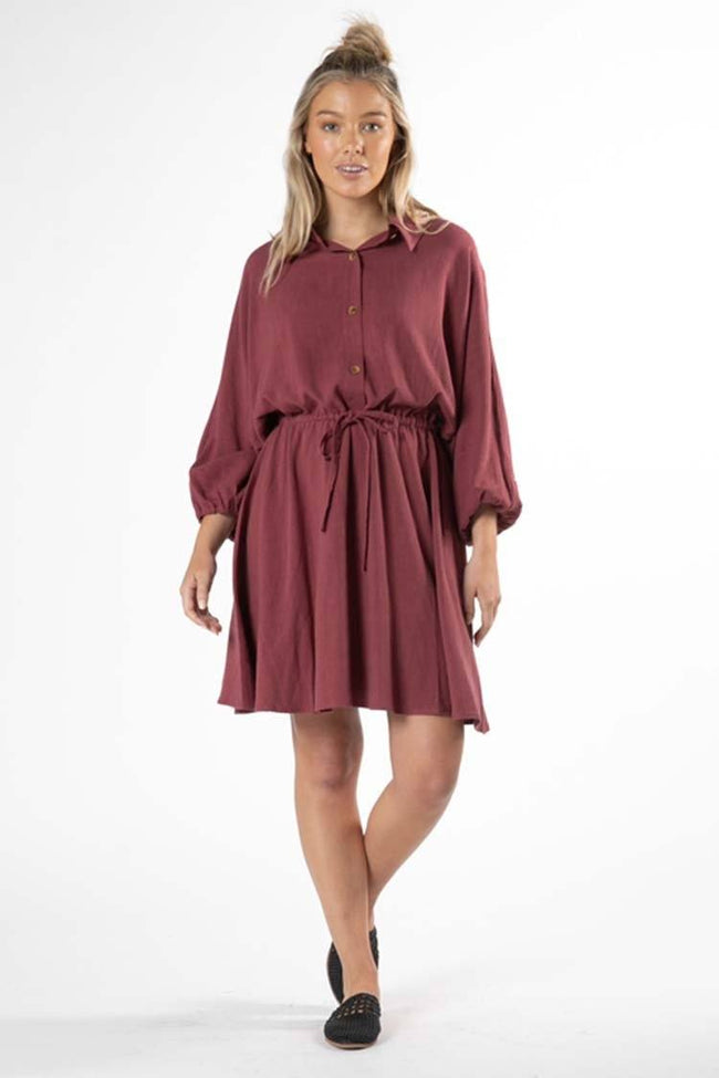 Rainey Dress in Dusty Plum