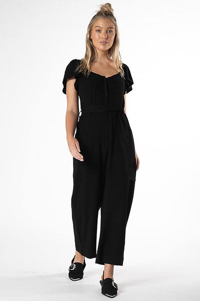Rainey Jumpsuit in Black Jumpsuit / Playsuit SASS