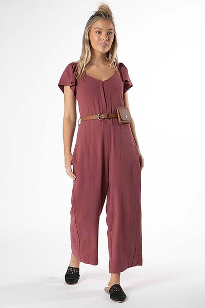 Rainey Jumpsuit in Dusty Plum Jumpsuit / Playsuit SASS