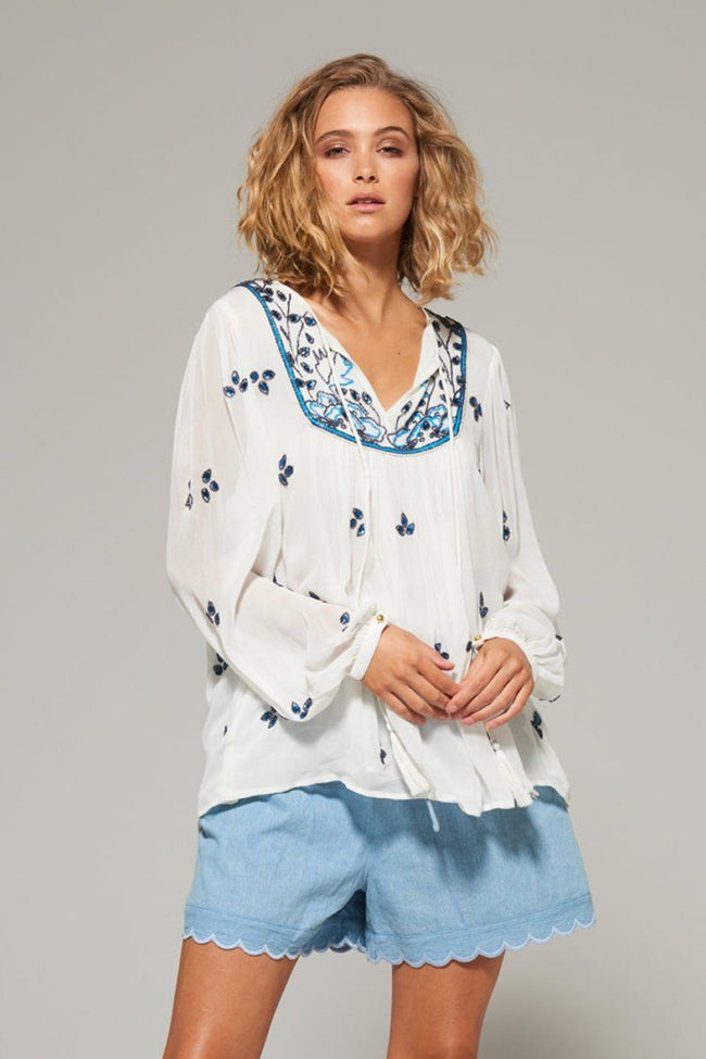 Rashida Beaded Blouse