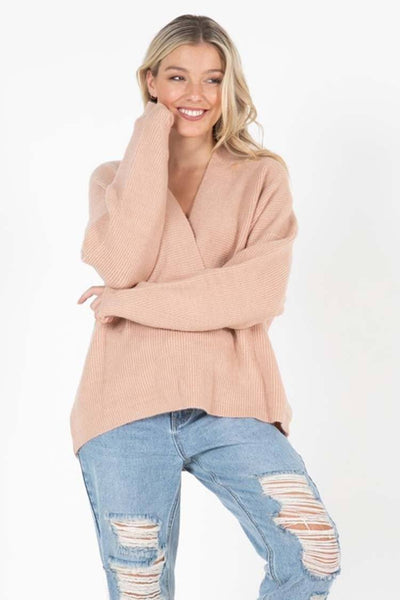 Ribba Jumper in Apricot Marle Tops SASS
