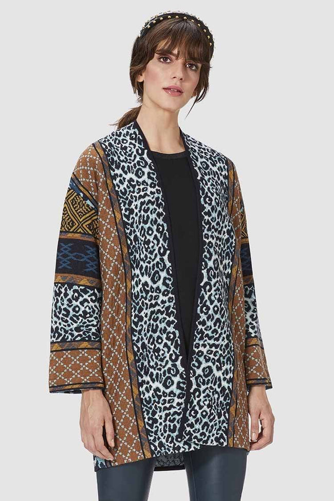 Cardigan Jacquard in Mixed Patterns