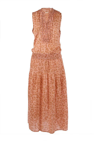 Ruby Maxi Dress in Leopard Blush Dresses Lola Australia