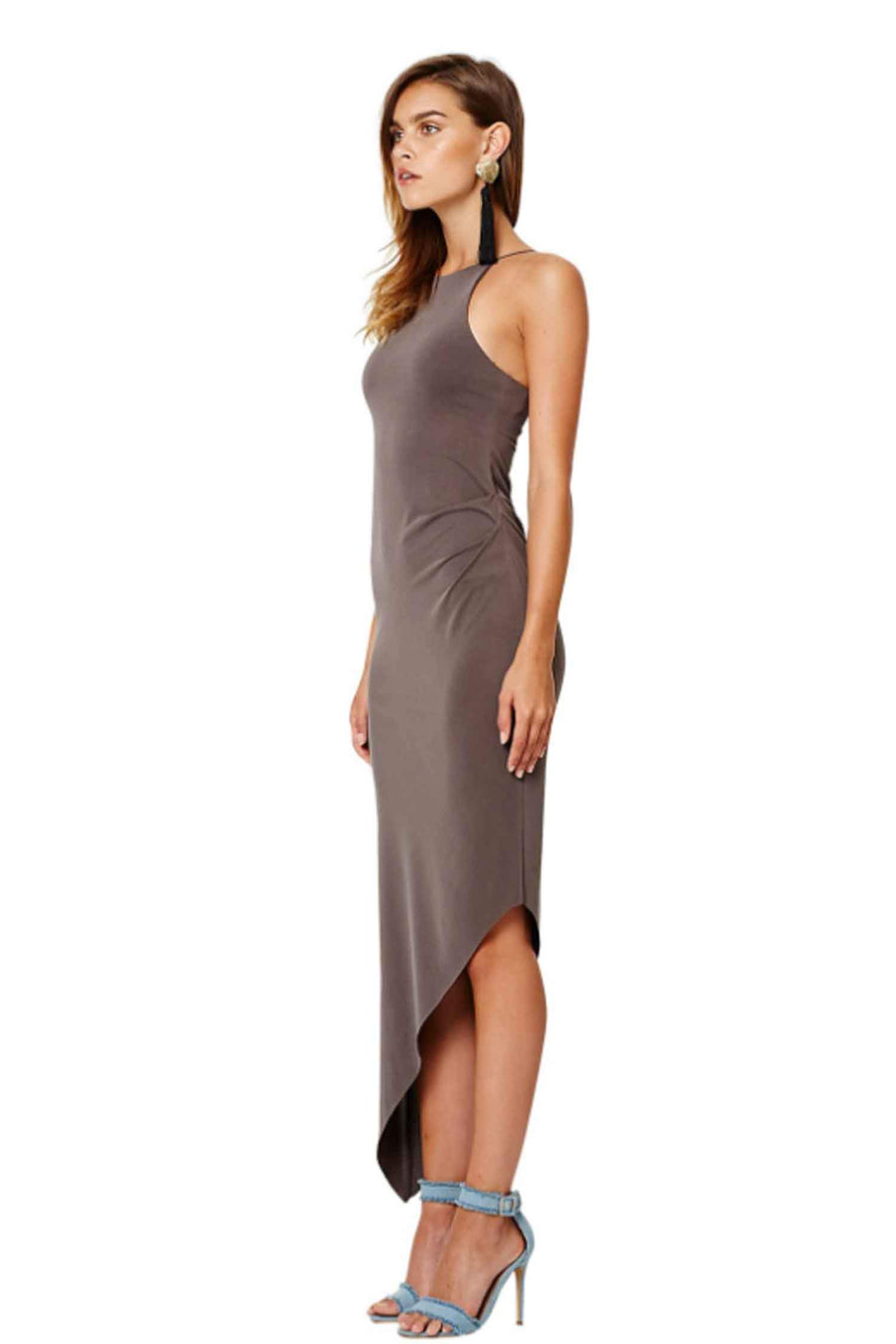 Sandalwood Asymm Dress