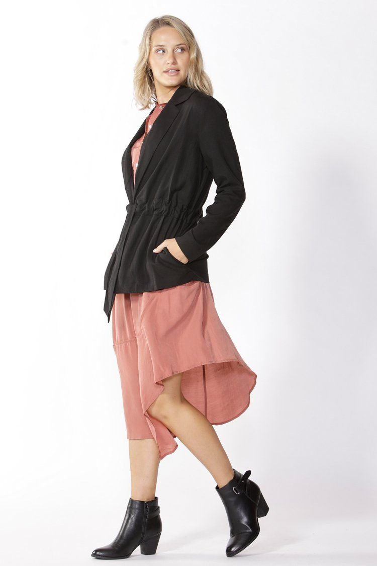 Salisbury Drawcord Blazer in Black