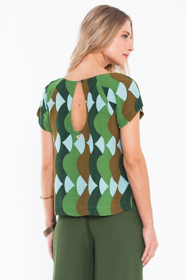 Genie Blouse in Summer Green