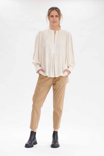 Saddle Blouse in Husk Tops Mela Purdie