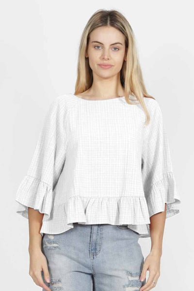 Sage Top in White Tops SASS