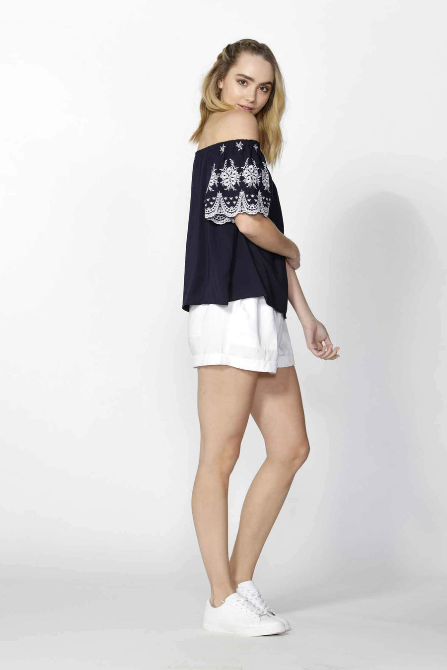 Isobel Embroidered Sleeve Top
