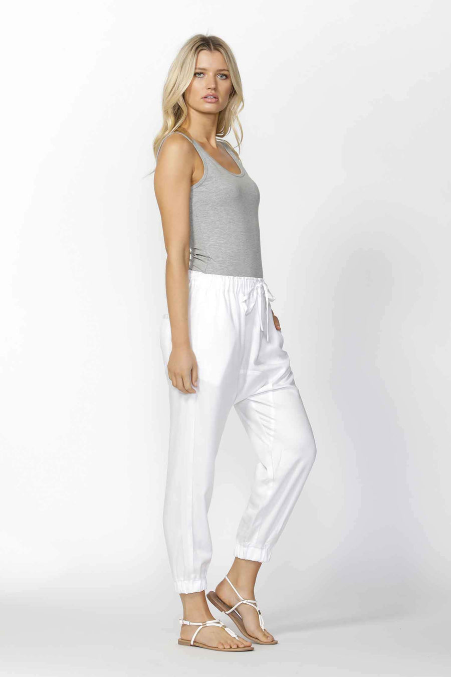 Hunter Drop Crotch Pant in White